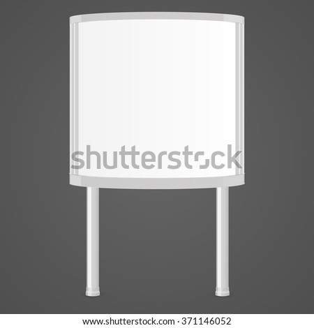 Realistic squared white 3d citylight. Ad lightbox. Mock Up Template For Your Design. Vector illustration