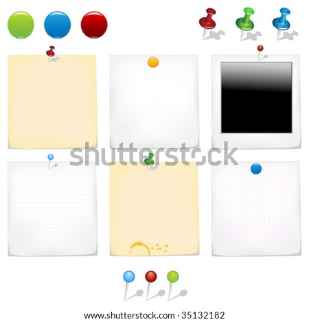 Realistic stickers - stock vector