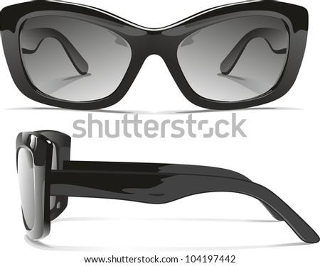 realistic sunglasses - stock vector