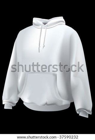 Realistic sweatshirt  or hoodie with front pocket.Mesh used. - stock vector
