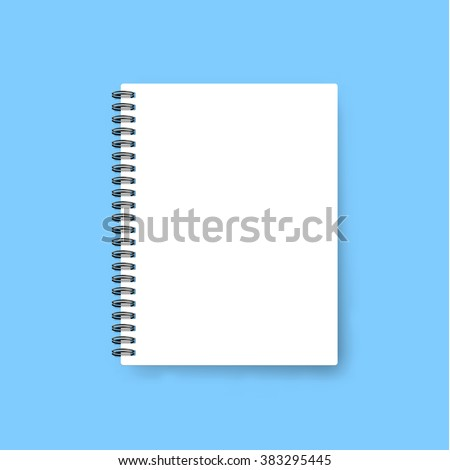 Realistic template notebook blank cover design stock vector royalty realistic template notebook blank cover design school business diary cheaphphosting Image collections