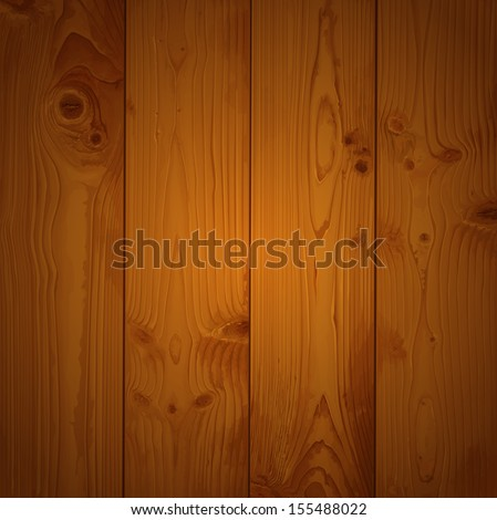 Realistic texture of brown wood - stock vector