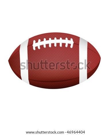 Realistic textured football vector (eps10) - stock vector