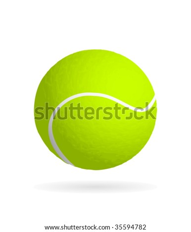 Realistic textured tennis ball vector - stock vector