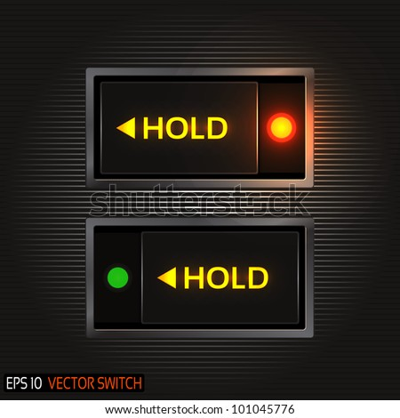 Realistic Toggle Switch - stock vector
