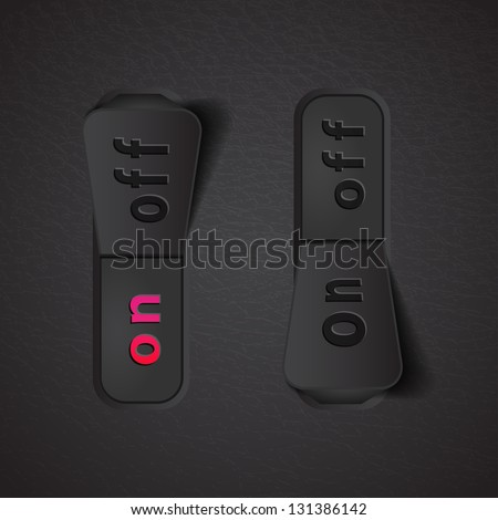 realistic toogel switch - stock vector