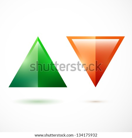 Realistic up and down arrows - stock vector