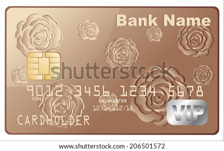 Realistic vector Credit Card - stock vector