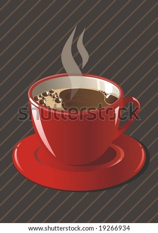 realistic vector. cup of coffee - stock vector