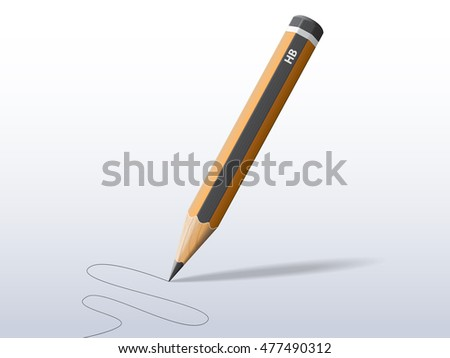 Realistic vector graphite pencil. File is in esp10 format.