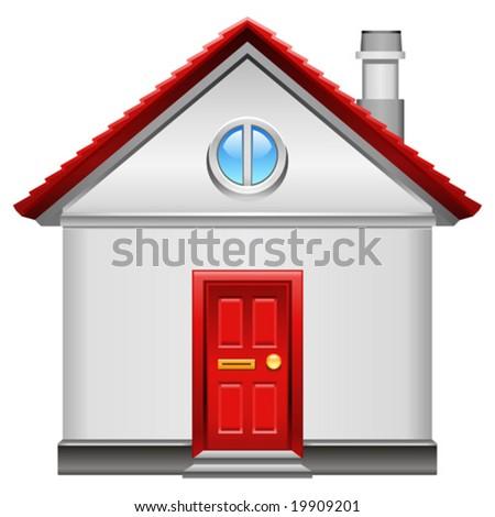 realistic vector home icon - stock vector