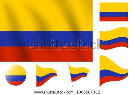 Realistic Vector Illustration Flag National Symbol Stock Vector