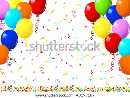 Realistic vector illustration of a shiny balloons - stock vector