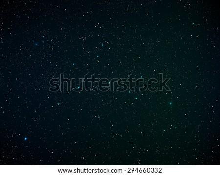Realistic Vector illustration of star field. - stock vector