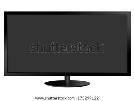 Realistic vector illustration of TV screen - stock vector