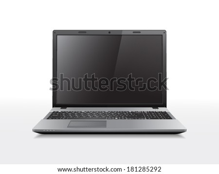 Realistic vector laptop. File is in eps10 format. - stock vector