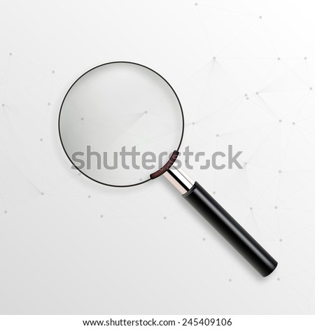 Realistic vector magnifying glass  - stock vector
