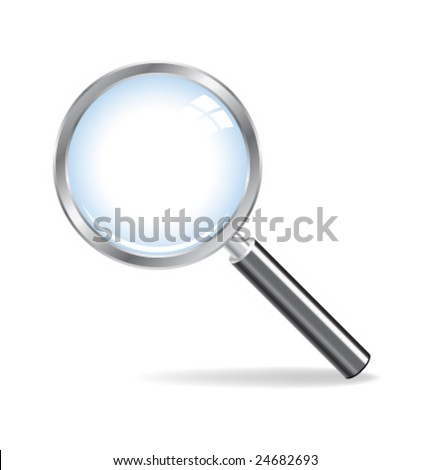 Realistic vector magnifying glass without mesh - stock vector