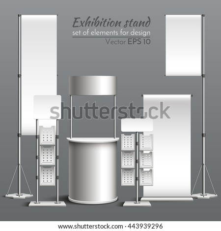 Realistic vector. Template for design. Exhibition stand - stock vector