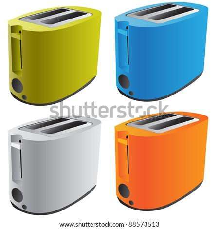 Realistic Vector Toaster - stock vector