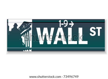 Realistic Wall street vector sign - stock vector