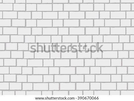 Realistic white brick wall. 3d seamless background. - stock vector