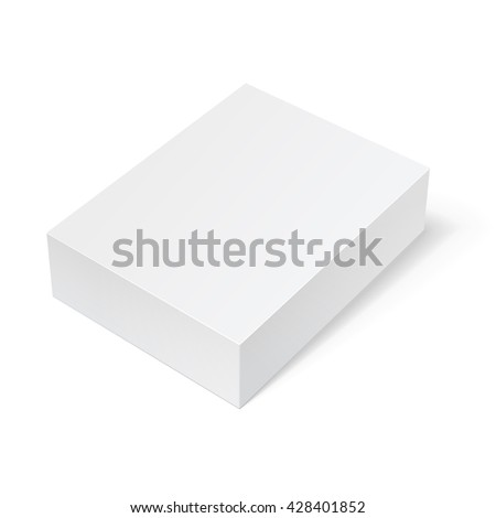Realistic White Package Box. For Software, electronic device and other products. Vector illustration. - stock vector