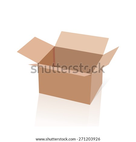 Realistic White Package Box. Vector illustration