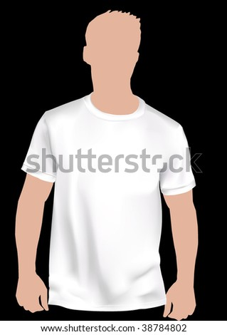 Realistic white shirt with mesh. - stock vector