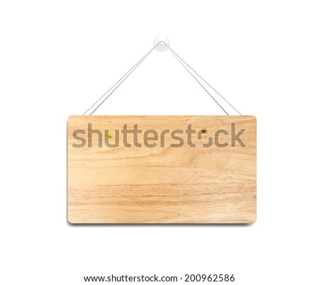realistic wooden blank frame on the wall. eps10 - stock vector