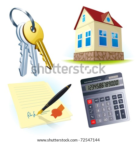 Realty vector icons. - stock vector