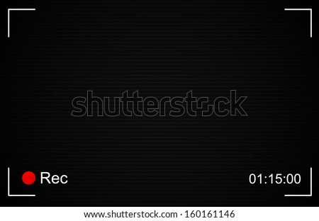 Rec background with isolated scan lines and shades from edges (separate layers eps10 transparency easy to edit with no blends) - stock vector