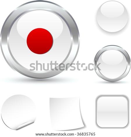 Rec  white icon. Vector illustration. - stock vector