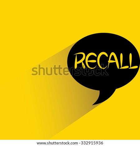 recall - stock vector
