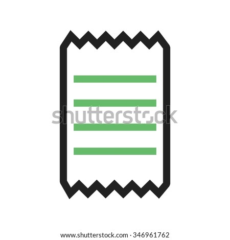 Receipt Invoice Bill Icon Vector Image Stock Vector 346961762
