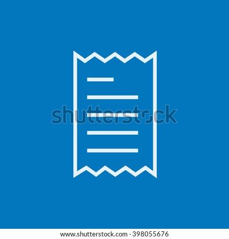 Receipt line icon. - stock vector