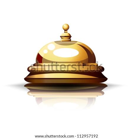 Reception Bell. - stock vector