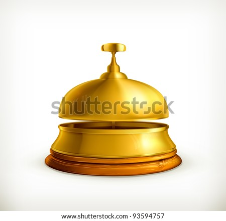 Reception Bell, 10eps - stock vector