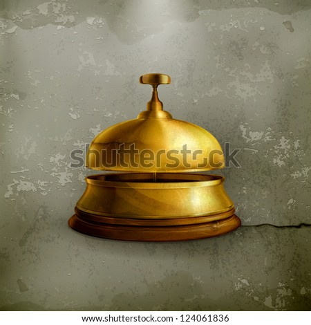 Reception Bell, old-style vector - stock vector