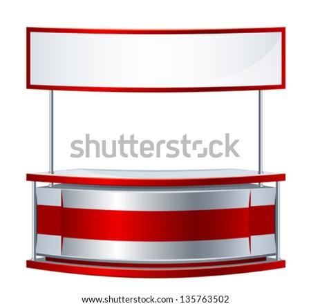 Reception counter - stock vector