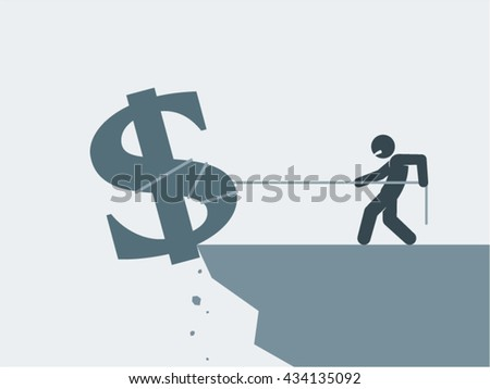 Recession Crisis Bankruptcy Financial Problems Vector Design - stock vector