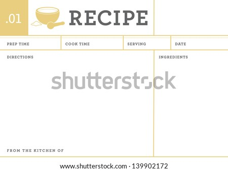 Recipe Card Stock Images RoyaltyFree Images  Vectors  Shutterstock