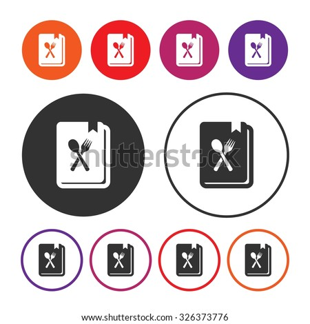 Recipe icon. Cook book icon. Cooking icon. Vector Illustration. EPS10 - stock vector