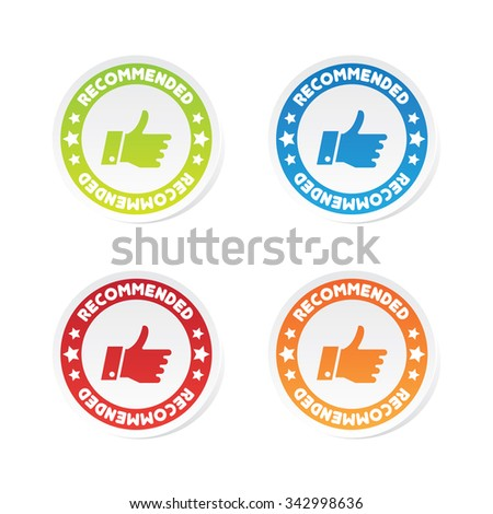 Recommended Labels - stock vector