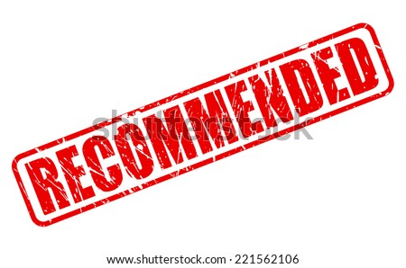 Recommended red stamp text on white - stock vector