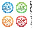Recommended Top Seller Label - stock vector