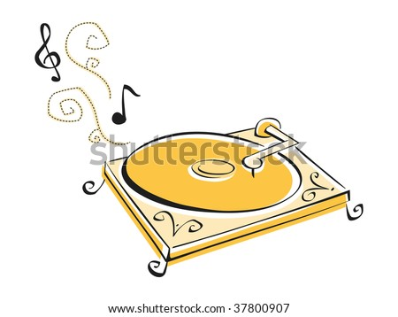 Record Player - stock vector