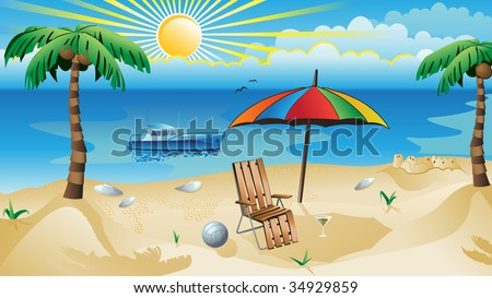 recreation background - stock vector