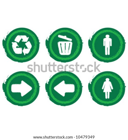 Recreational park icon symbols
