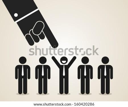 recruitment - stock vector